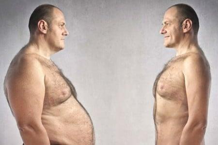 Стройный и толстый мужчина