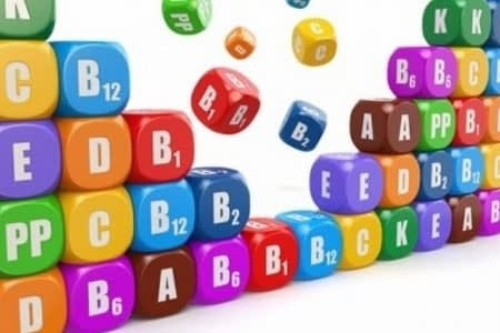 Кубики с названиями витаминов