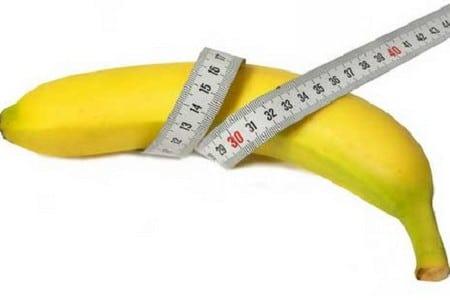 Банан с метром