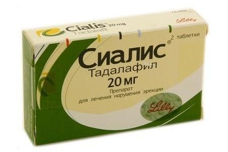 Упаковка средства Сиалис