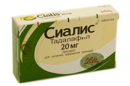 Упаковка препарата Сиалис